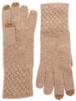Lord & Taylor Knit Cuff Cashmere Gloves