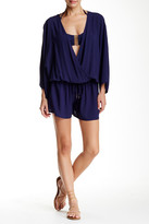 Vince Camuto Surplice Cover-Up Romper