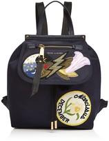 Marc Jacobs Embellished Zip Nylon Backpack