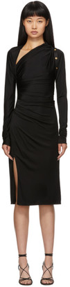 Versace Black Draped Dress