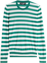 Dolce & Gabbana Riga Striped Cashmere Pullover with Silk