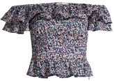 MICHAEL Michael Kors Ditsy Floral Off-The-Shoulder Crop Top