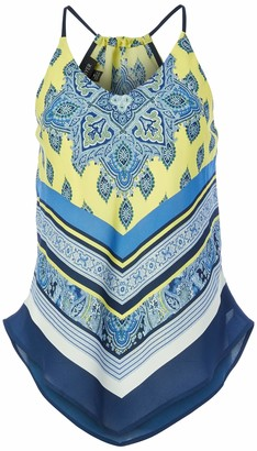 Amy Byer A. Byer Juniors Scarf Print Tank Top