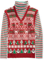 American Rag Men's Family Portrait Sweater, Only at Macy's