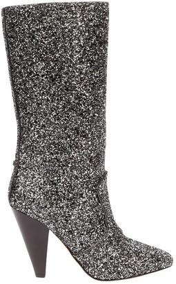 Veronica Beard Silver Glitter Boots