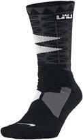 Nike Mens Hyper Elite Lebron James Basketball Crew Socks (8-12) , White