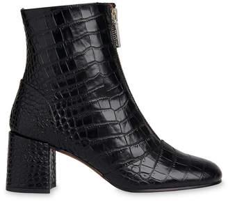 Whistles Rowan Croc Zip Front Boot