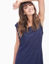 Splendid Panama Stripe Twist Sleeve Dress