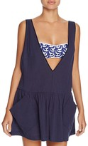Milly Deep V Neck Pocket Swim Cover-Up