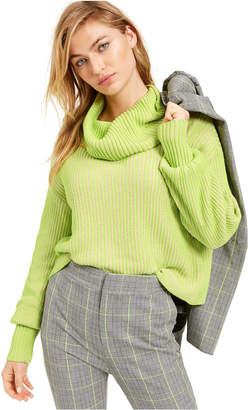 Bar III Becca Tilley x Cowl-Neck Cropped Sweater