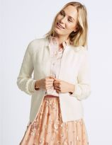 Marks and Spencer Pearl Sleeve Open Front Cardigan