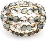 Alexis Bittar Arrayed Stone Cluster Cuff Bracelet