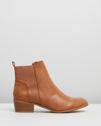Spurr Women's Brown Chelsea Boots - Pip Ankle Boots - Size 5 at The Iconic