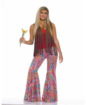 BuySeasons BuySeason Women's Wild Swirl Bell Bottom Pants Costume