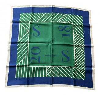 Self-Portrait Green Silk Scarves