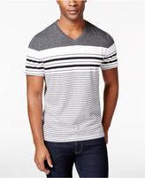 Alfani Men's Mason V-Neck Striped Short-Sleeve Shirt, Only at Macy's
