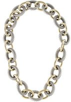 David Yurman Two-Tone Large Oval Link Chain Necklace
