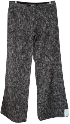 Philosophy di Alberta Ferretti Black Wool Trousers for Women