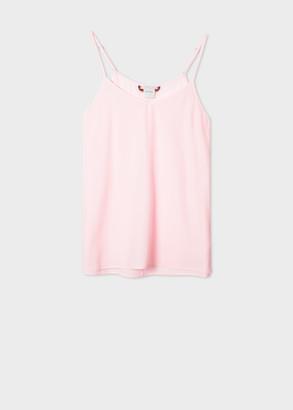 Paul Smith Women's Light Pink Silk-Blend Cami Top