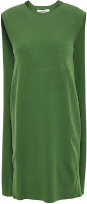Valentino Cape Overlay Ponte Mini Dress