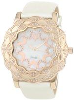 Brillier Women's 10-3A324-02 La Fleur Round Rose Gold Diamonds Analog Watch