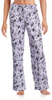 Lord & Taylor Pima Cotton Drawstring Floral Pants