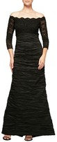 Alex Evenings Women's Embellished Off The Shoulder Empire Gown
