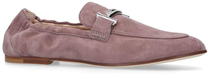 Tod's Suede T-Bar Loafers
