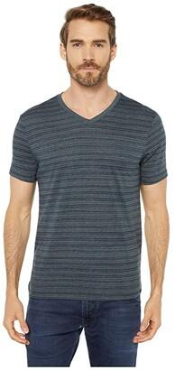 Threads 4 Thought Dirt Road Stripe V-Neck (Gunmetal) Men's Clothing