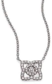 De Beers Enchanted Lotus Diamond& 18K White Gold Mini Pendant Necklace