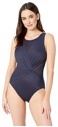 Miraclesuit Illusionist Palma One-Piece (Midnight) Women's Swimsuits One Piece