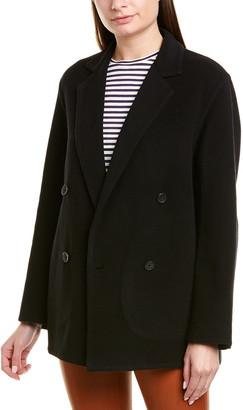 Vince Double-Breasted Wool-Blend Cardigan Coat