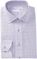 Lorenzo Uomo Windowpane Trim Fit Dress Shirt