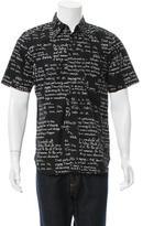 Comme des Garcons Printed Short Sleeve Shirt