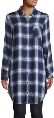 Rails Plaid-Print Long-Sleeve Tunic