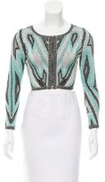 Herve Leger Patterned Crop Top