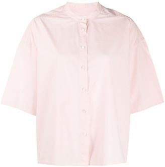 Closed Oversized Short Sleeve Shirt
