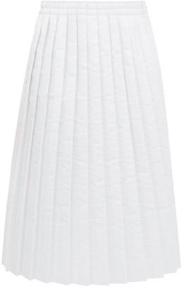 MM6 MAISON MARGIELA Pleated Padded Technical-fabric Skirt - Womens - White