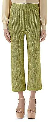 Gucci Women's Crystal Viscose Cropped Pants