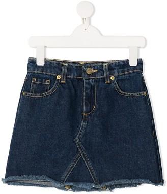 Chiara Ferragni Kids Logo-Embroidered Denim Mini Skirt