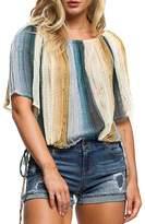 Anama Striped Chiffon Blouse