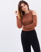 SABA Coco Cold-Shoulder Top