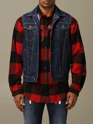 DSQUARED2 Suit Vest Denim Vest In Denim And Sweater