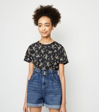 New Look Girls High Waist Denim Shorts