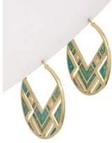 Noir 18k Plated Opal Small Pixelated Hoops.