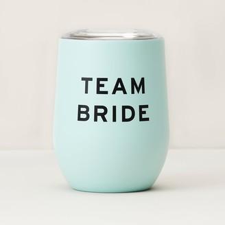 Indigo Team Bride Insulated Wine Glass