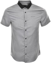 Armani Exchange Two Tone Slim Fit Shirt Grey