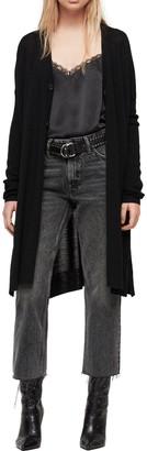 AllSaints Mori Merino Wool Long Cardigan