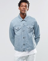 Asos Denim Jacket In Skinny Fit With Stonewash
