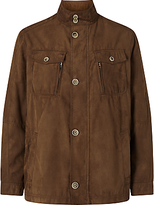 Bugatti Microma Velour Water Repellent Two Pocket Jacket, Tobacco